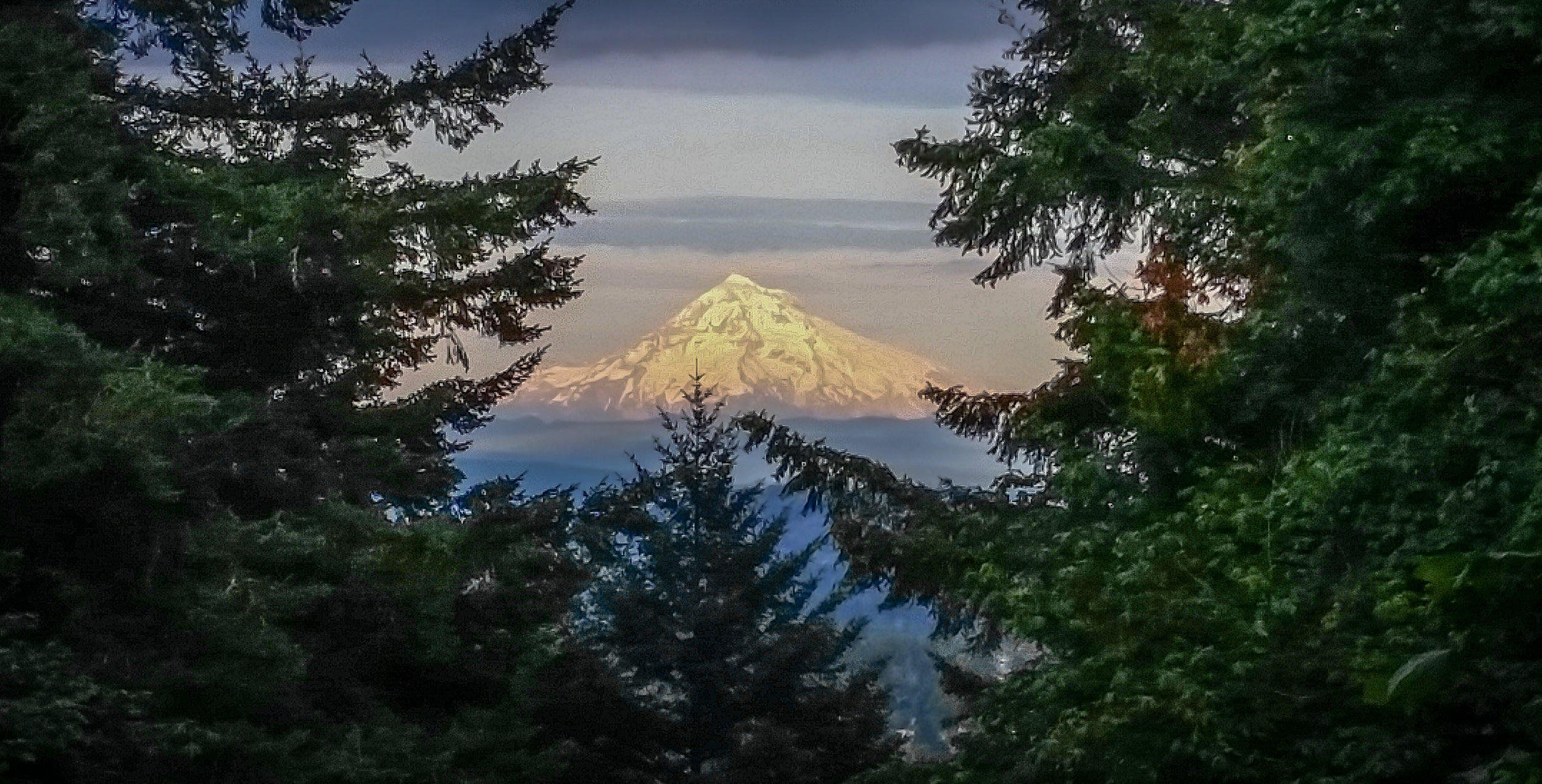 Mt Hood, as seen from Portland, OR.