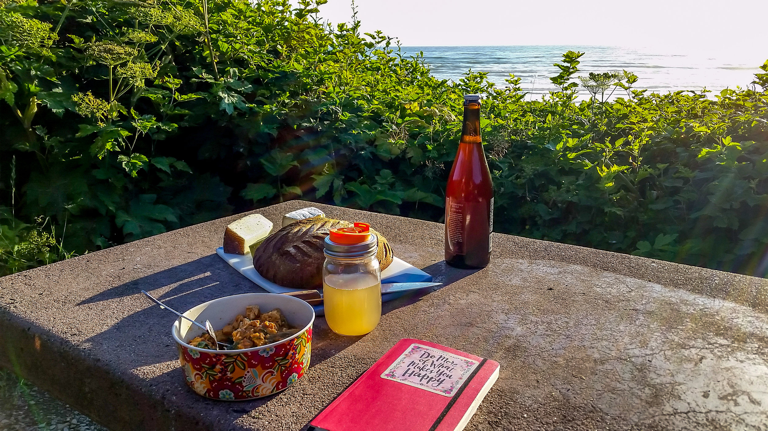Supper by the sea.