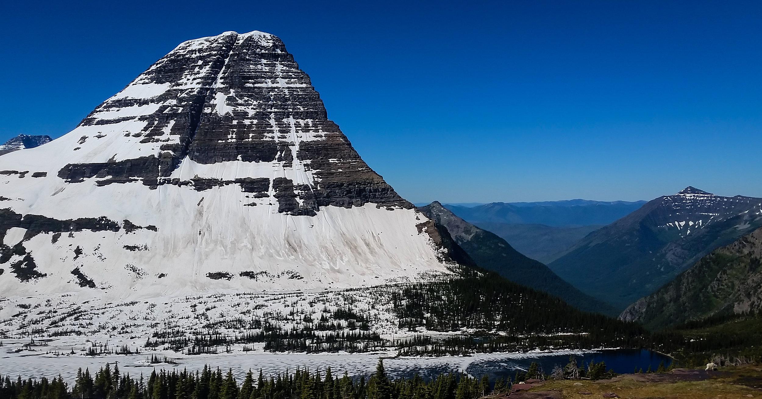 Bearhat Mountain, overlooking Hidden Lake.