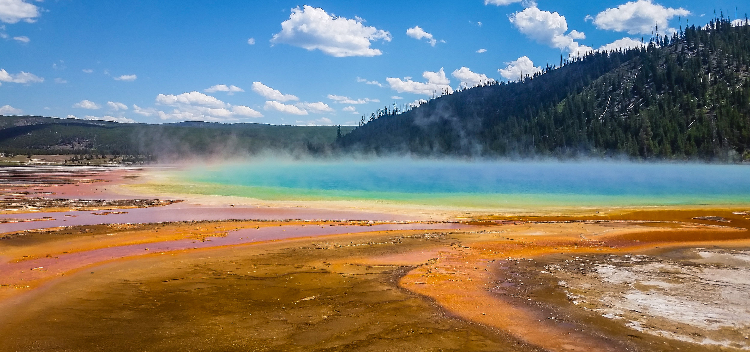 The Grand Prismatic Spring.