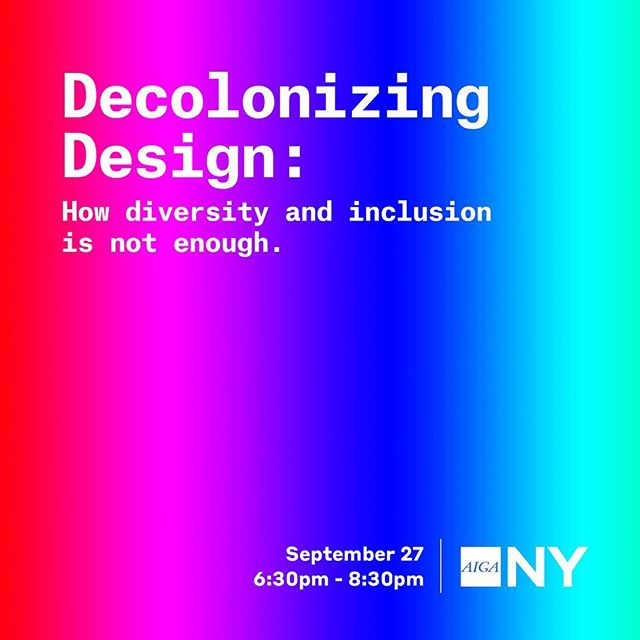 """👋🏼Hey NY Friends 🌈What does it mean to be truly inclusive in design? How do values that we hold as individuals translate to the experiences we design for? · Join @deandori_ocadu and @aigany as we demystify how trends of """"Diversity and Inclusion"""" are not the only solutions for creating inclusive design spaces. As the the first black and black female dean of faculty of design at OCAD University, Dori offers a unique perspective on recognizing key barriers and creating new paths towards the inclusion in design conversation. · 📍Parsons, The New School – 63 5th Avenue, Tishman Auditorium, Rm U100 📅 Thursday, September 27, 2018 ⏰ 6:30pm Check In, 7:00 Lecture Begins 🎟 Link in bio"""