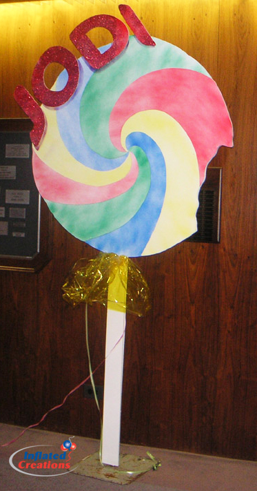 Centerpiece - Lollipop Foam Board