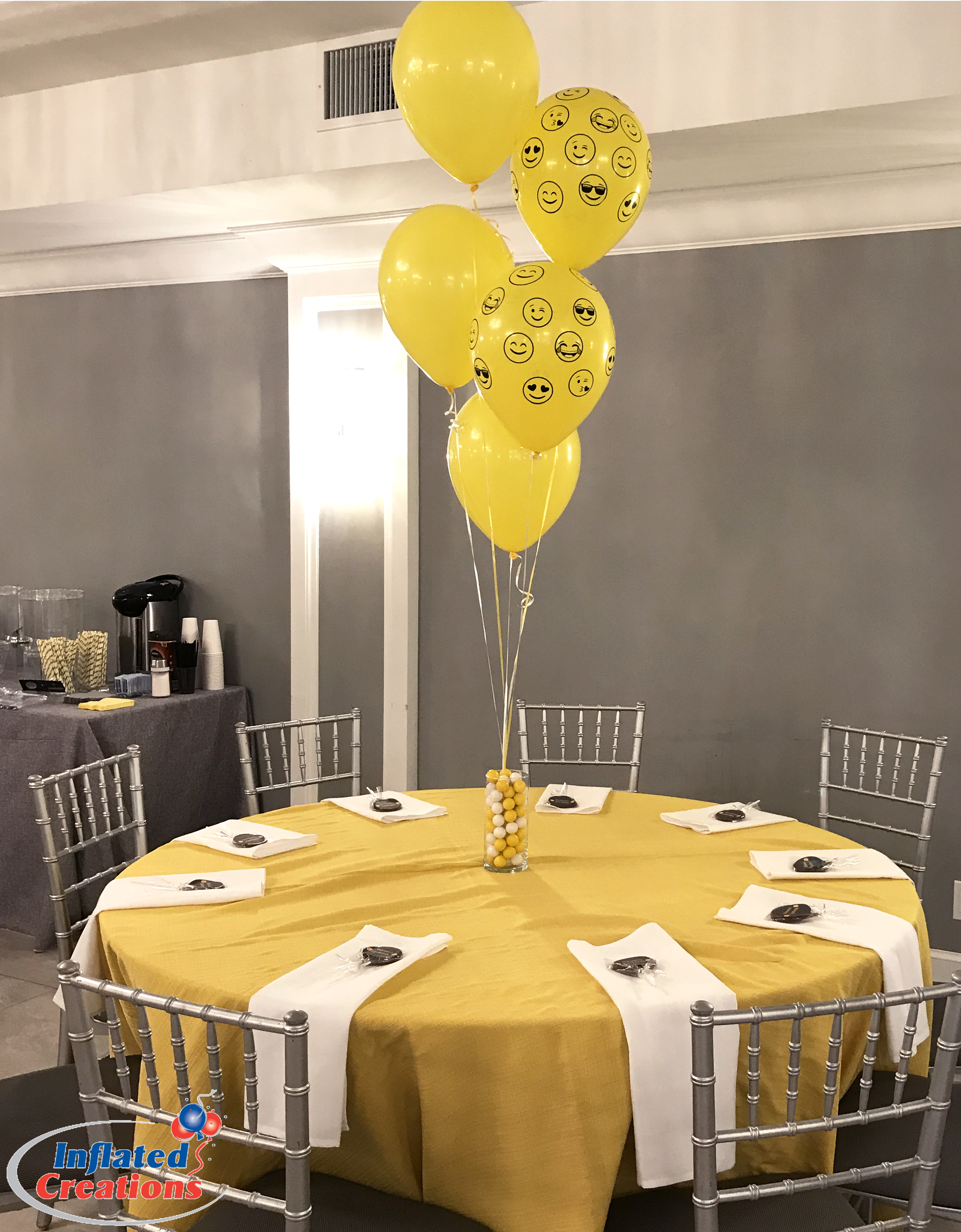 Bouquet of Five -  Latex Emoji Balloons