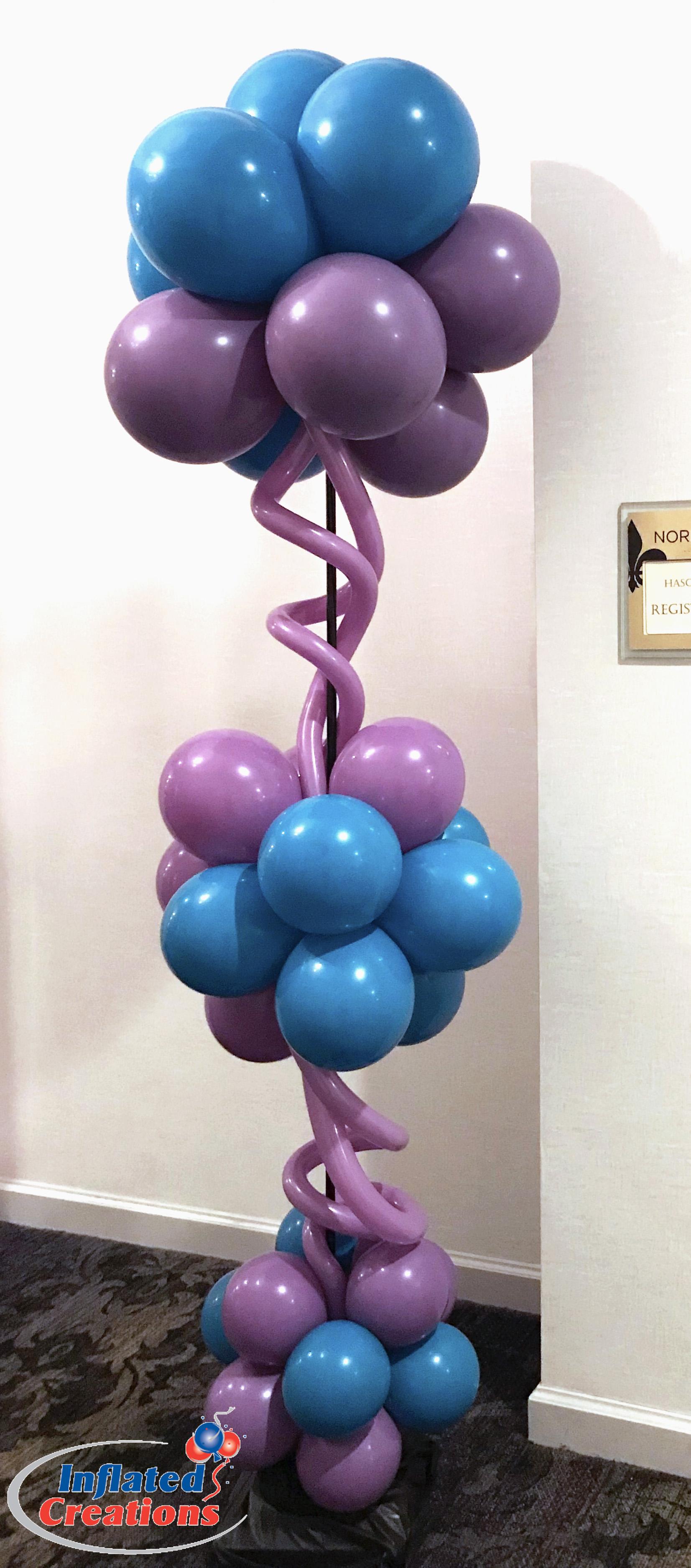Columns - Purple & Blue