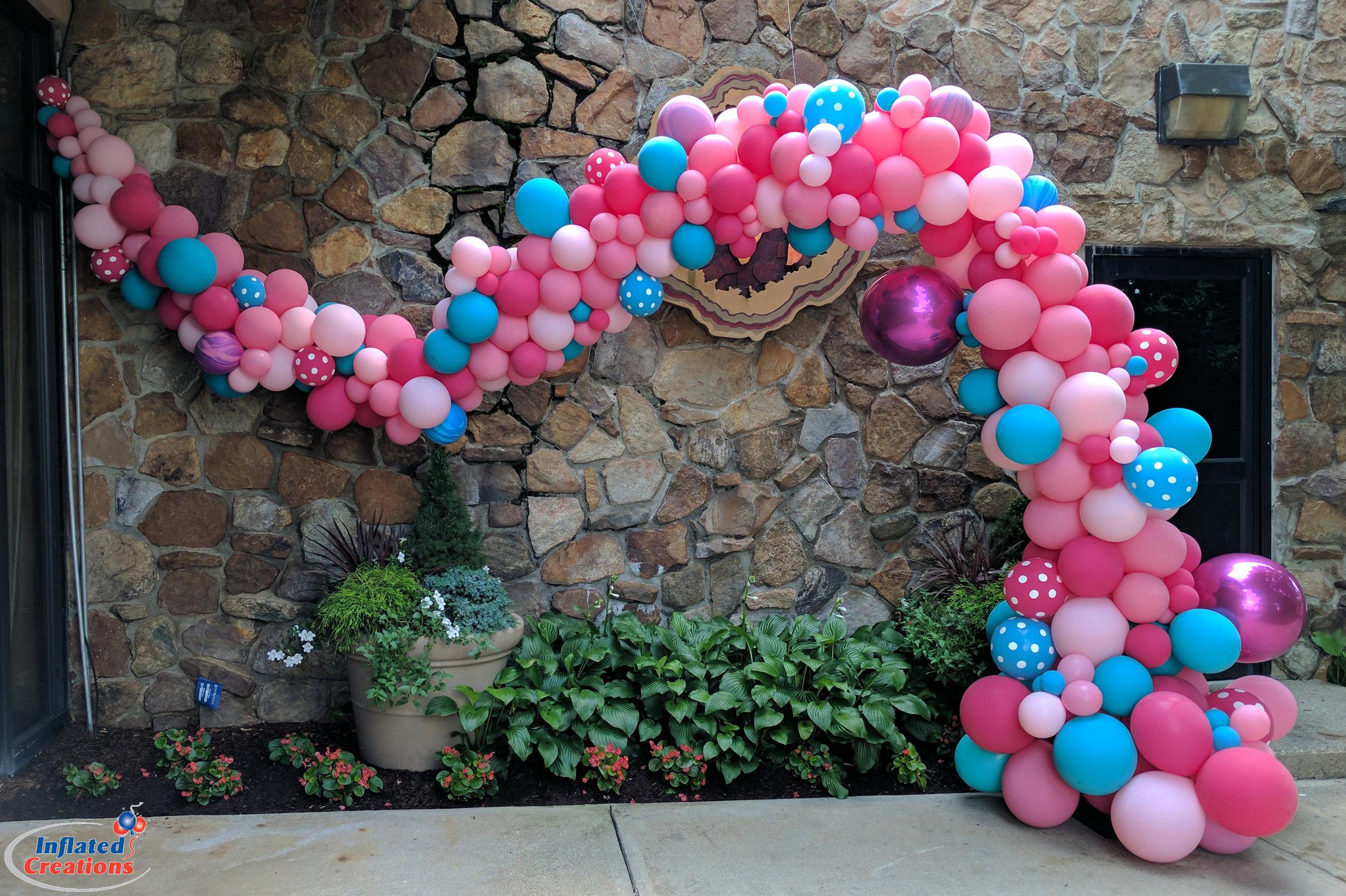 Blue & Pink Polka Dots Organic Arch