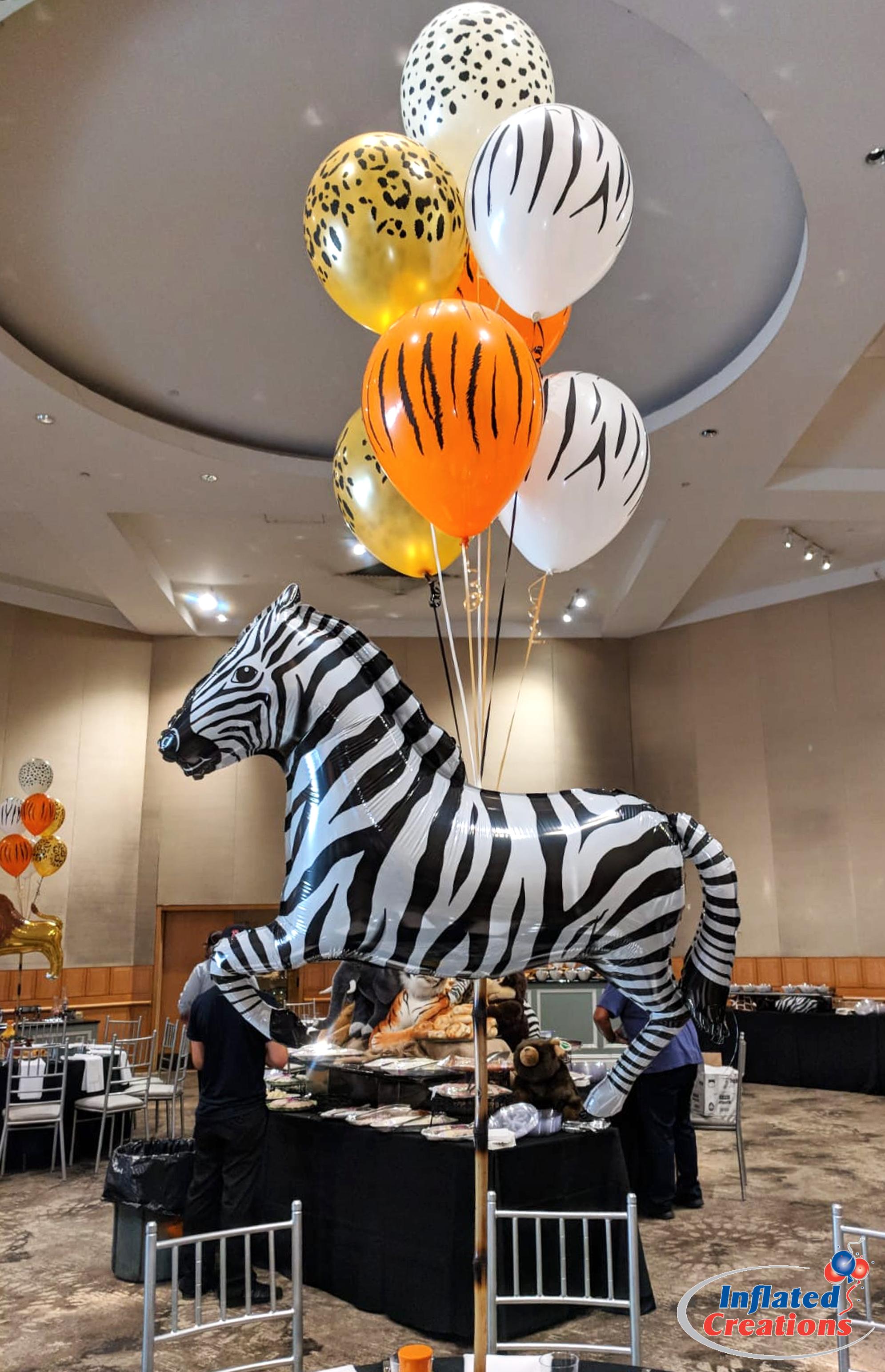 Bouquet of Seven - Zebra Animal Print Party