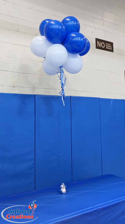 Floating - Blue & White Balloons