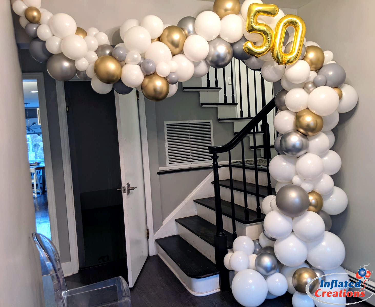 Megaloon Numbers 50th Anniversary Arch