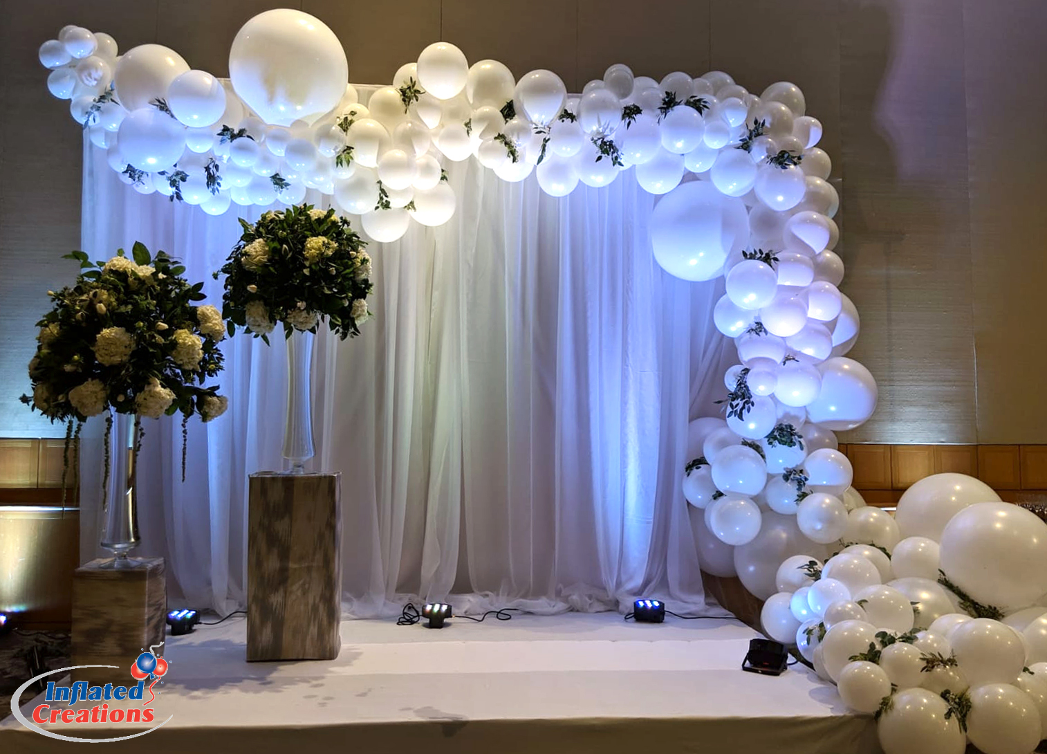 Organic Balloon Arch - Badeken Wedding Decor