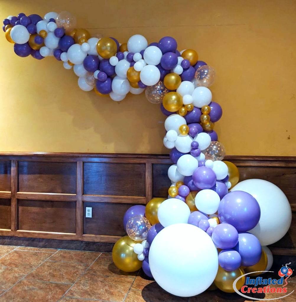 Purple Printed Organic Arch