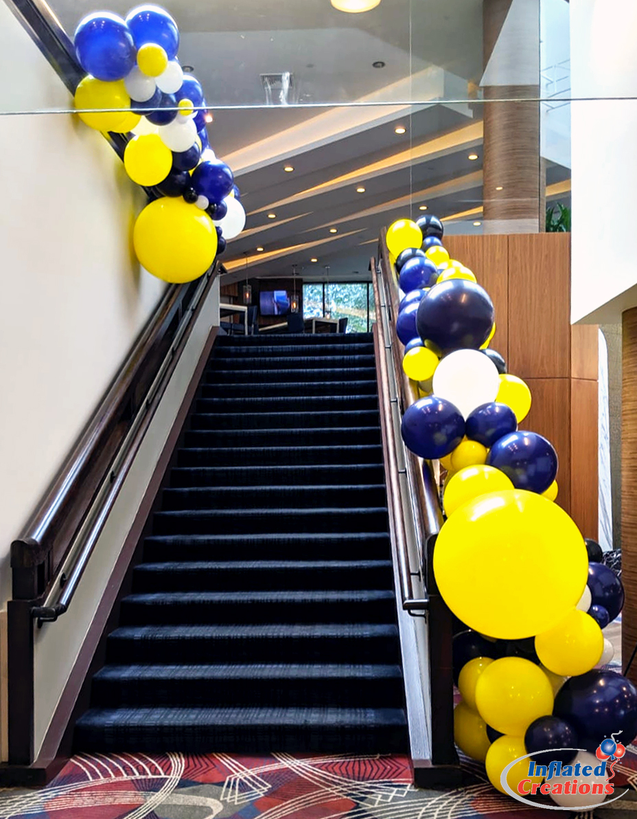 Color Block Organic Staircase Balloon Garlands