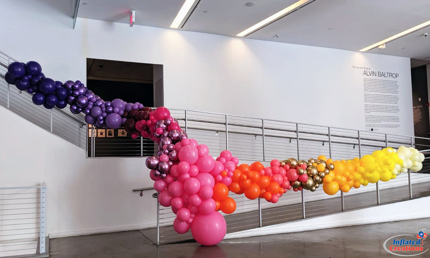 Chrome & Rainbow Organic Ramp Balloon Garlands