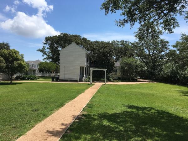 Backyard of The Menard House