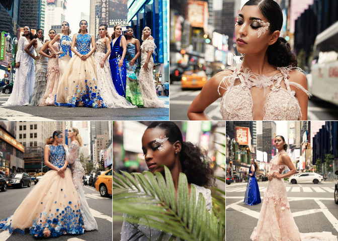 Couture Fashion WeekNYC 2018 - For the second year in a row, we traveled to NYC to shoot for Sheri Autry Couture, a wonderful (and sweet) bridal and evening gown designer based near Baltimore, MD. Hair and makeup by @ellaorso and the Ella Beauty Team.