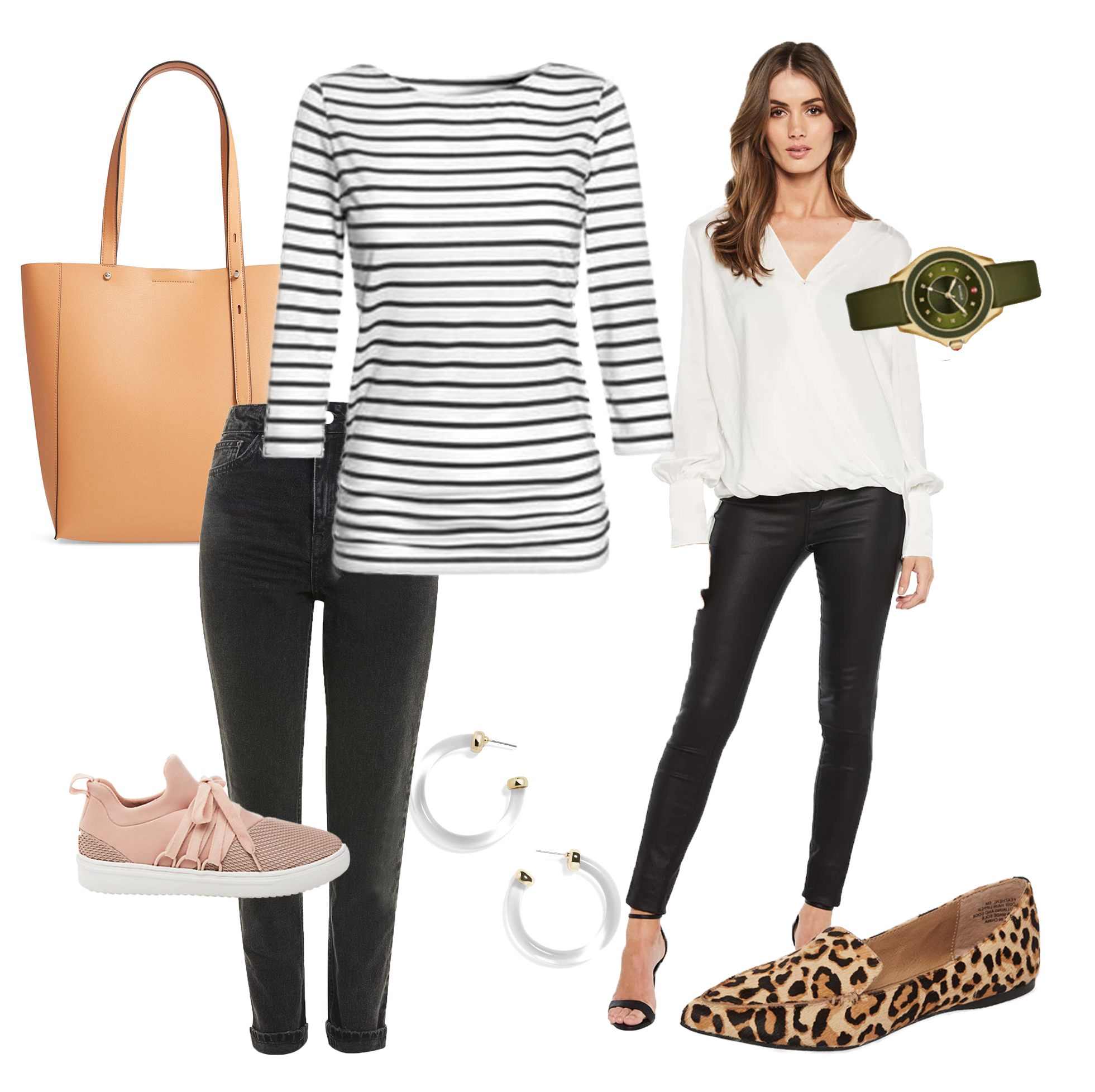 Everyday Casual - Go-To Pieces include: -Casual cotton/knit tops-Sweaters-Dark fitted pants/jeans-Solid colors or simple, uniform patterns-Comfortable, trendy shoes-Unique cuts and styles