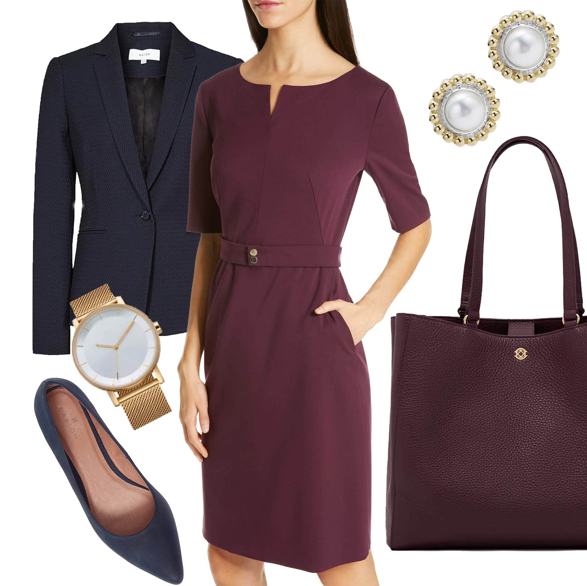 Formal Business - Go-To Pieces:-Structured Dresses-Silk/higher-end blouses-Pointed heel or flat-Traditional blazer/suit -Simple, classic jewelry-Neutral, solid colors