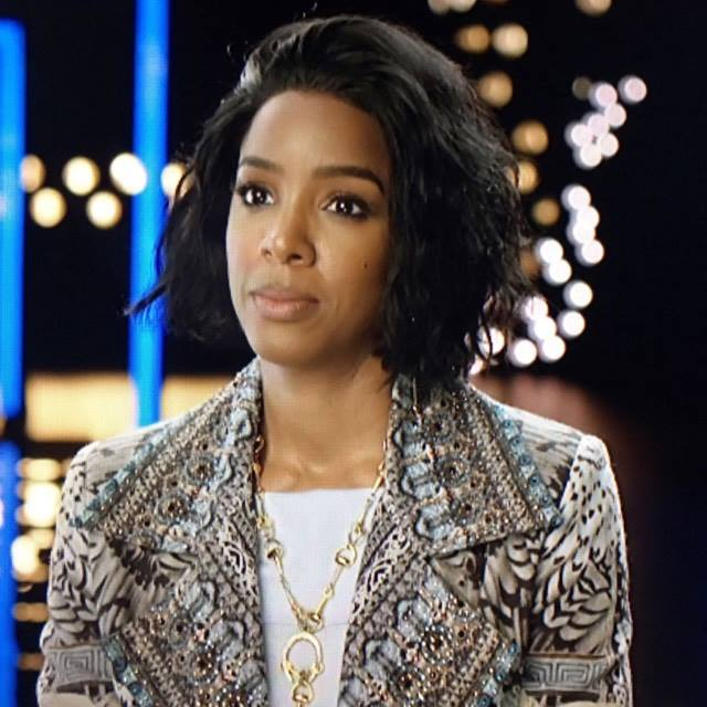 Kelly Rowland wearing the Balyck Body Chain on the Voice Australia
