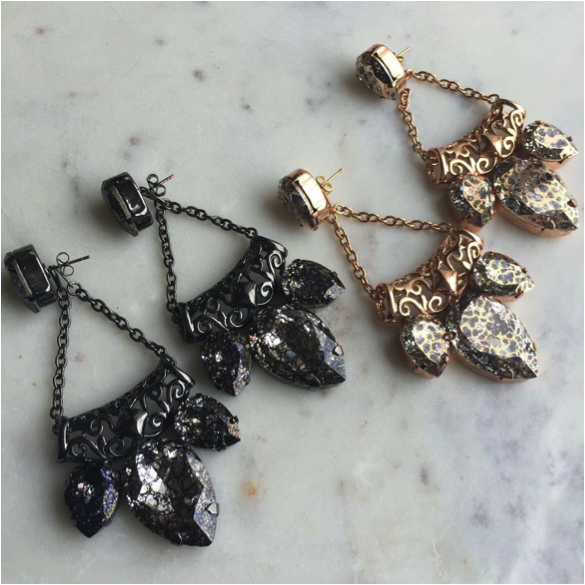 The Mirvana Earrings - Here is a guide to the four different ways to wear the Mirvana earrings.