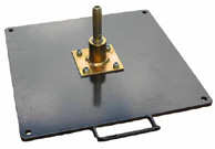 Metal Plate with Spindle (Outdoor or Indoor Use)