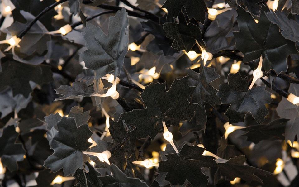 Maple, Black / Grey Leaf with Warm White LEDs