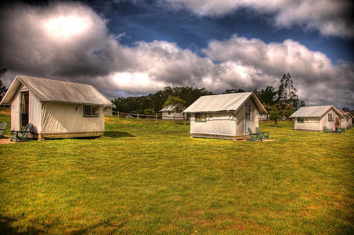 Glamp! - Explore the California coast with a night in your own canvas bungalow at Costanoa!