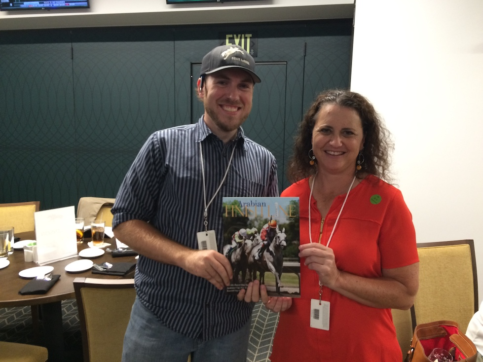 Joe with Arabian Finish Line editor Stephanie Ruff at Churchill Downs
