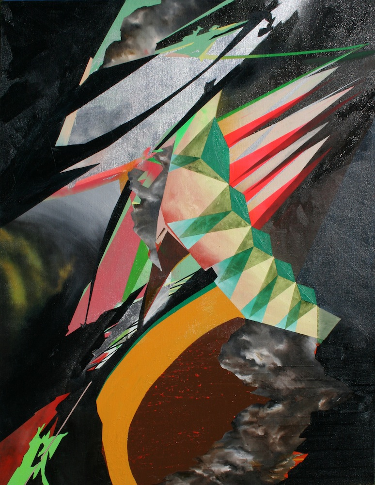 IMAGE: Natalie Mather,  Spit Kiss Thick Feast  2012 oil acrylic and spray enamel on linen, 160x120cm