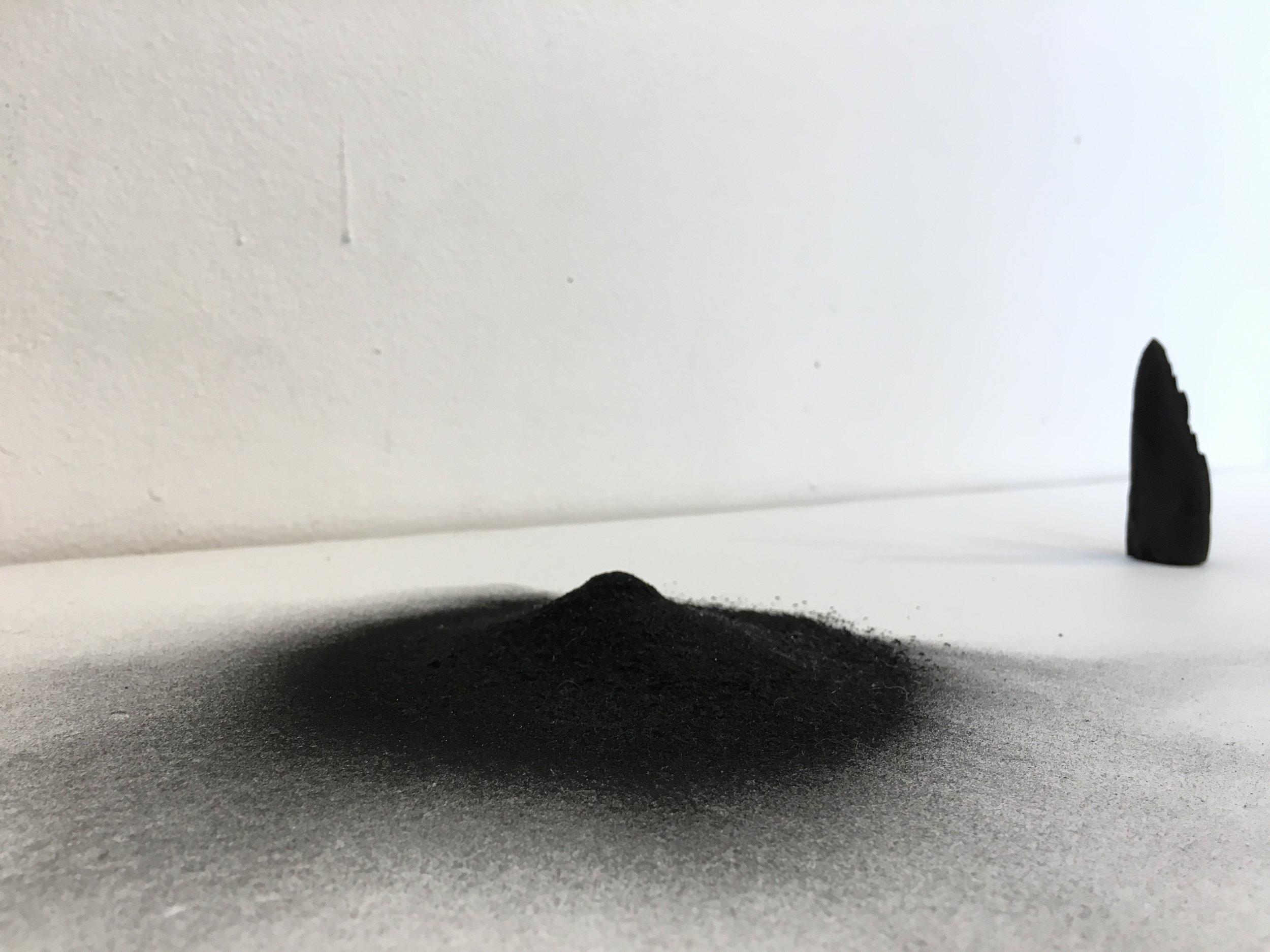 ash dust _ polished burnt timber