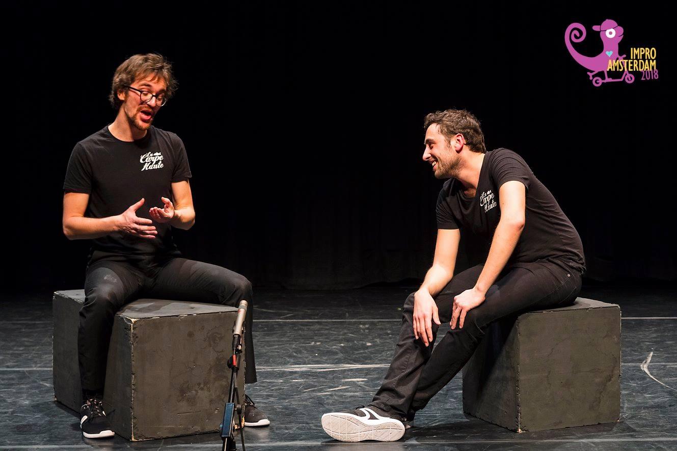 Dan and Gael in Amsterdam