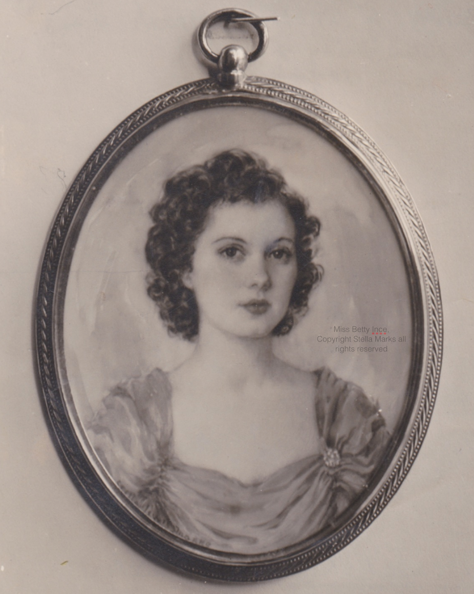 Portrait Miniature by Stella Marks of Miss Betty Ince of Melbourne. first ever theft from the royal Scottish academy.