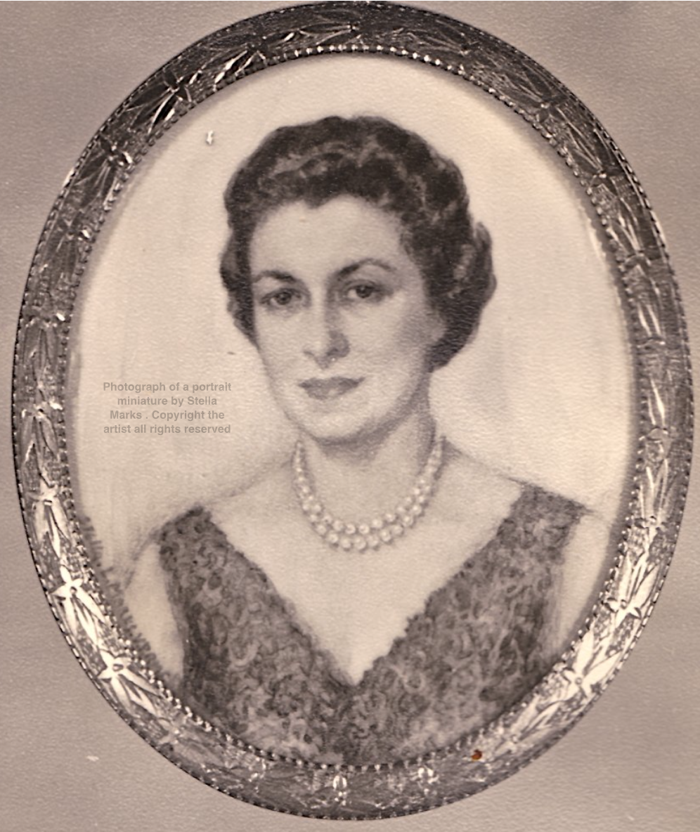 Photograph of a portrait miniature by Stella Marks . Copyright Stella Marks' Estate all rights reserved