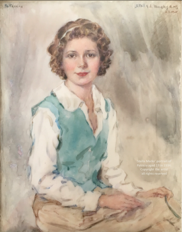 Stella Marks' portrait of Patricia aged 13 in an American riding habit 1934 (one of two) Copyright Stella Marks' Estate all rights reserved. Private Collection.