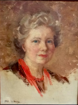 CC BY-SA 4.0 Photograph of Stella Marks, self-portrait in oils, ca. 1940. Created by Anthony Pettifer: 12 January 2017.