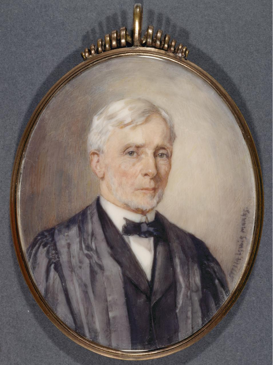 Stella Lewis Marks. Justice McKenna miniature: watercolour on ivory. 8.2 x 6.6 cm (image) (oval). 10.0 x 7.1 cm (locket) (oval) National Gallery of Victoria, Melbourne Felton Bequest, 1938 (456-4).  Published with permission from the National Gallery of Victoria