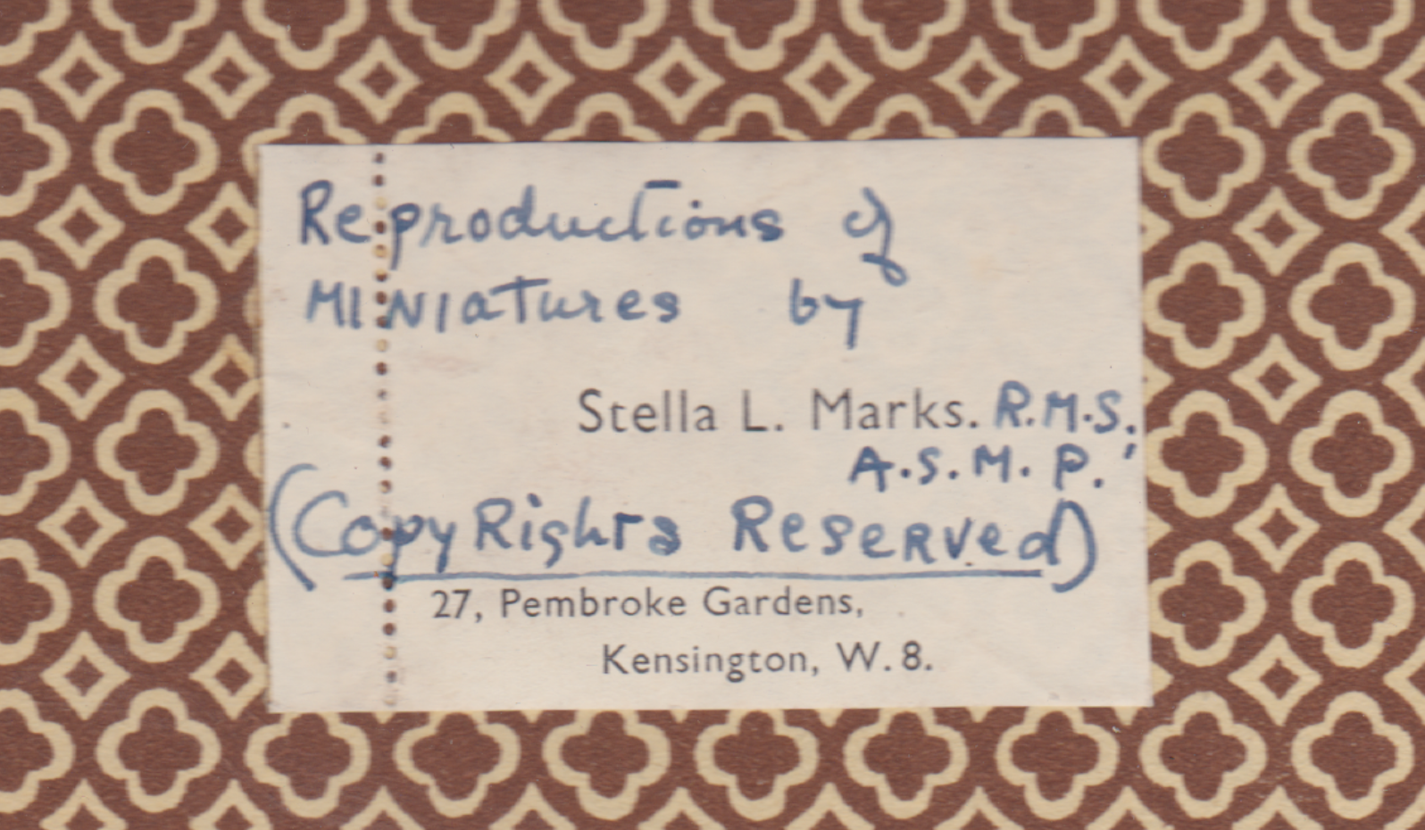 The inside page of Stella Mark's Book Displaying Photographs of some of her work