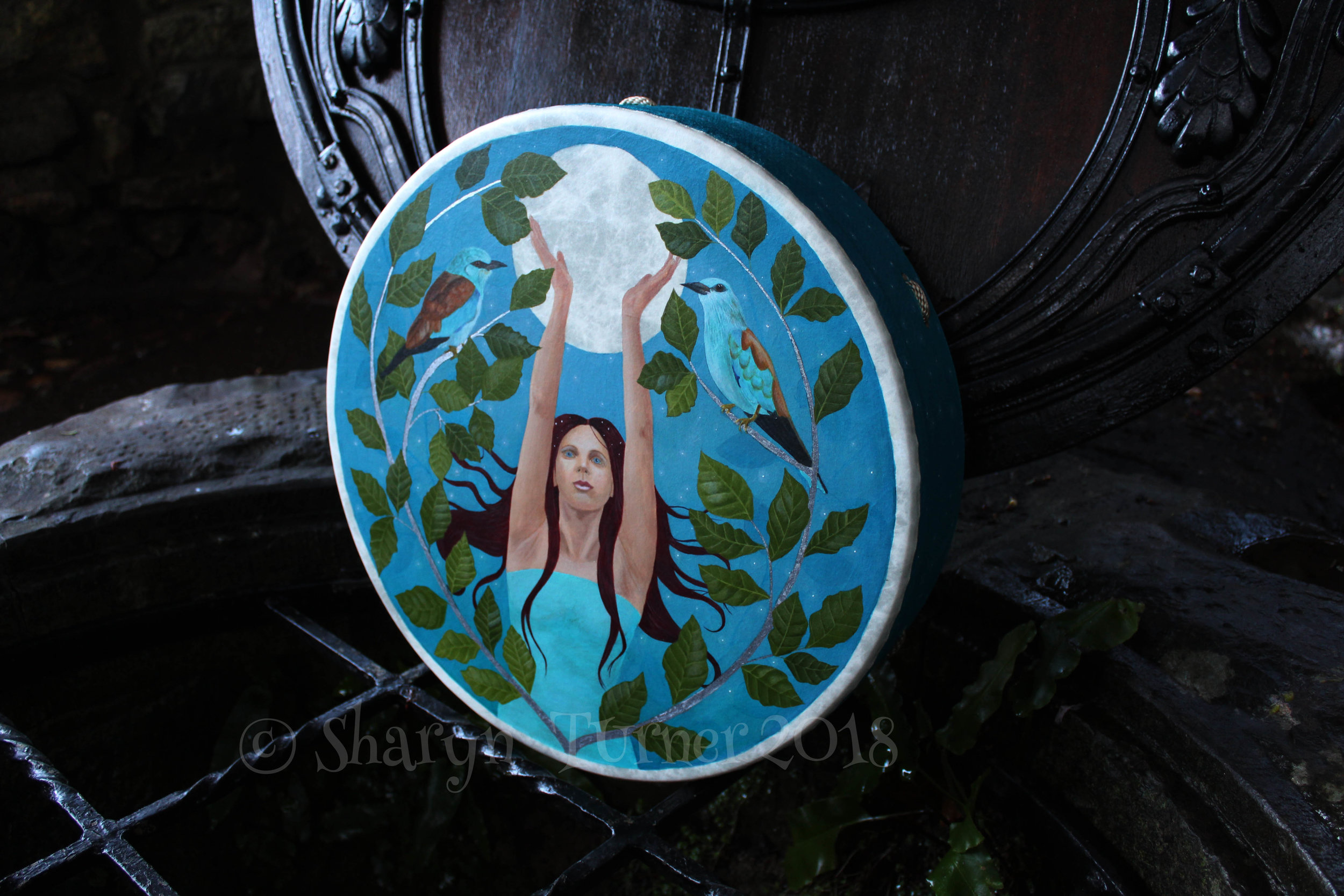 "Full Moon Goddess Drum 16"" Remo"