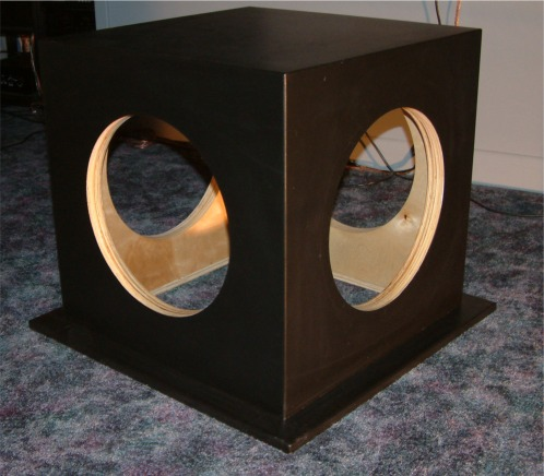 - Here's the raw box, painted and ready for speakers and mounting: