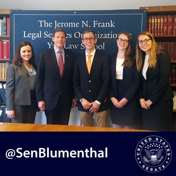 ves's legal services director, sara nolan collins, sen. blumenthal,and the yale law school's veterans legal services clinic holds a press conference on the va's authority to protect veterans from predatory colleges.