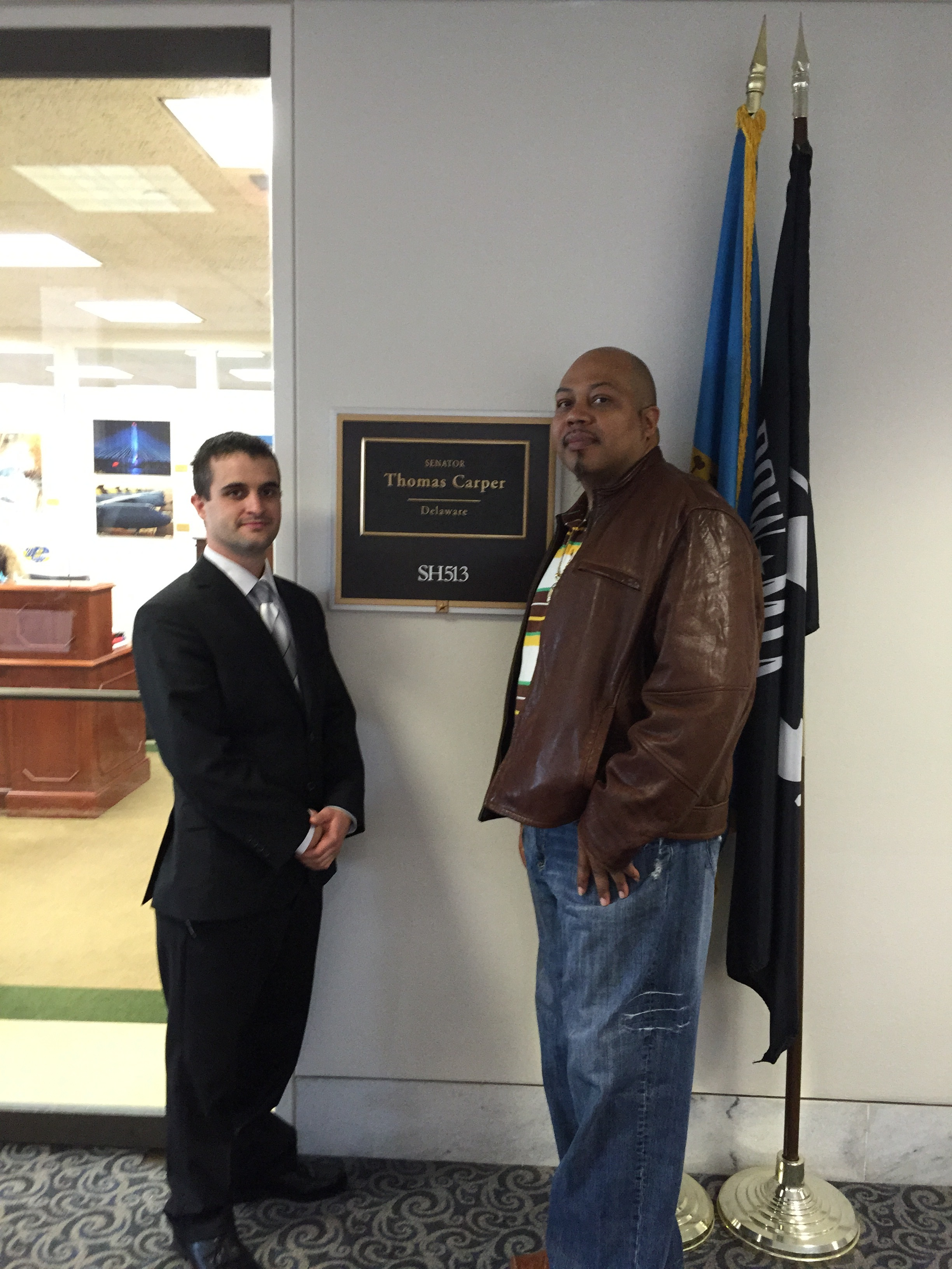 Veterans visit the U.S. senate to tell their stories.