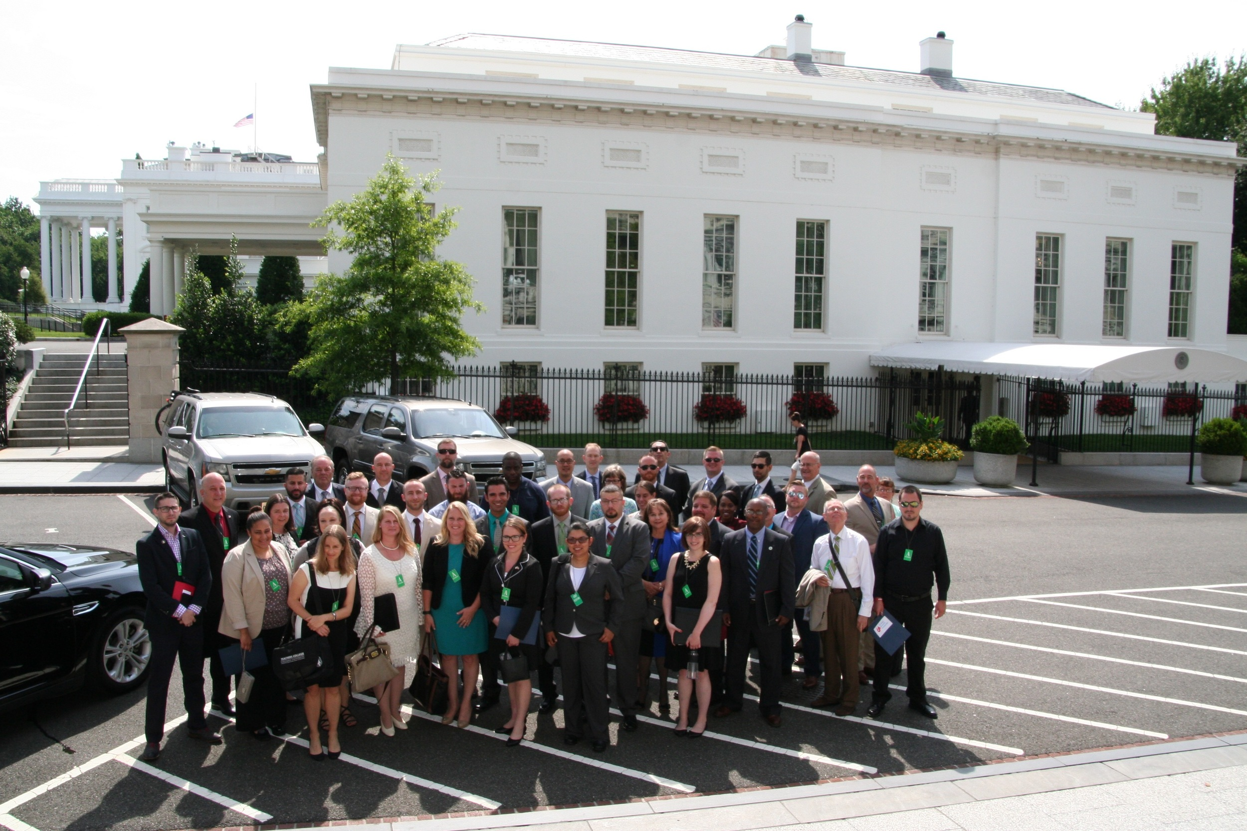 Students and administrators from community colleges discuss campus supports for veterans at the White House, July 12, 2016