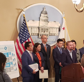 Ashford university whistleblower eric dean spoke at a press conference announcing california legislation to protect student veterans (Sacramento, CA, Feb. 27, 2019)
