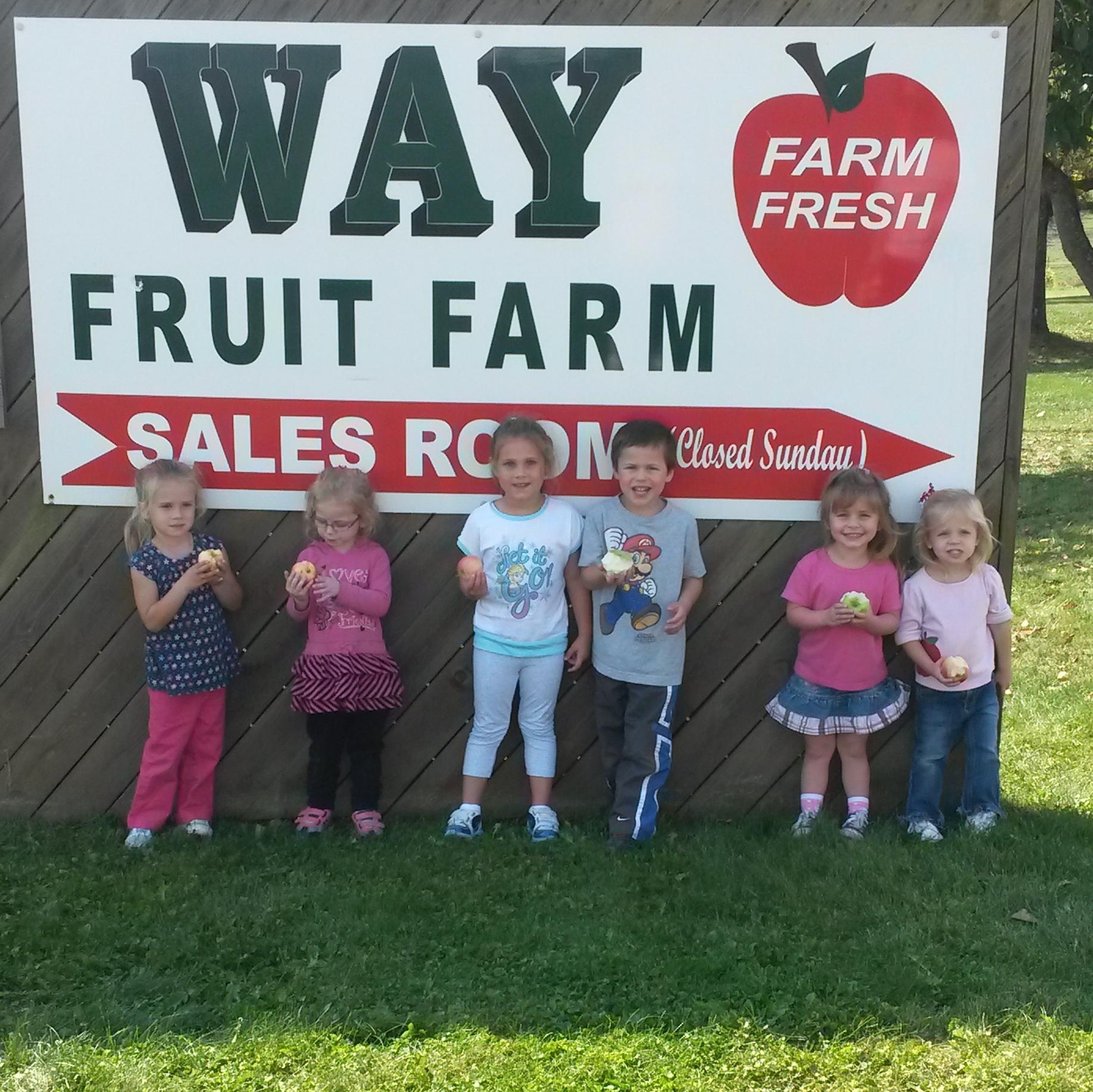 Field Trip to the Way Fruit Farm.  Apples- YUM!!