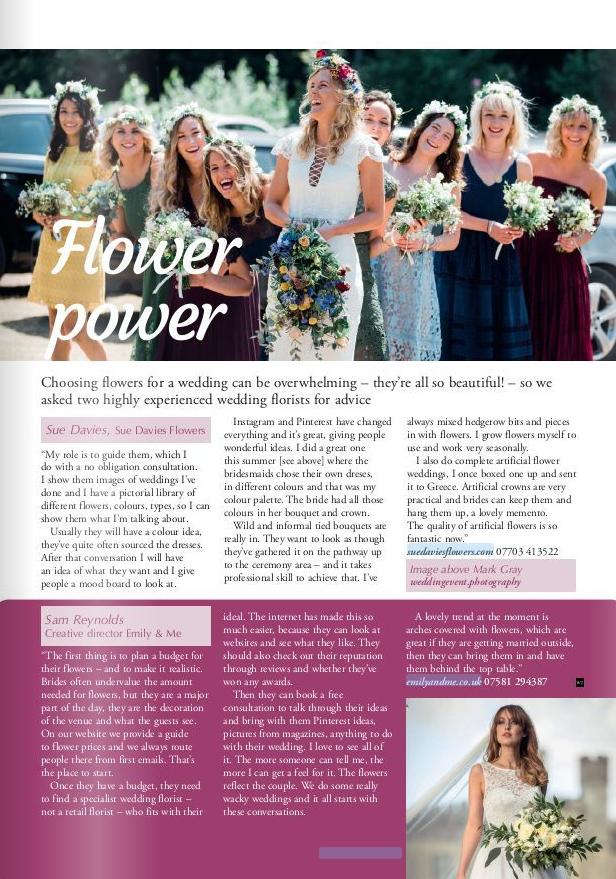Suedaviesflowers interview in Wealden Times
