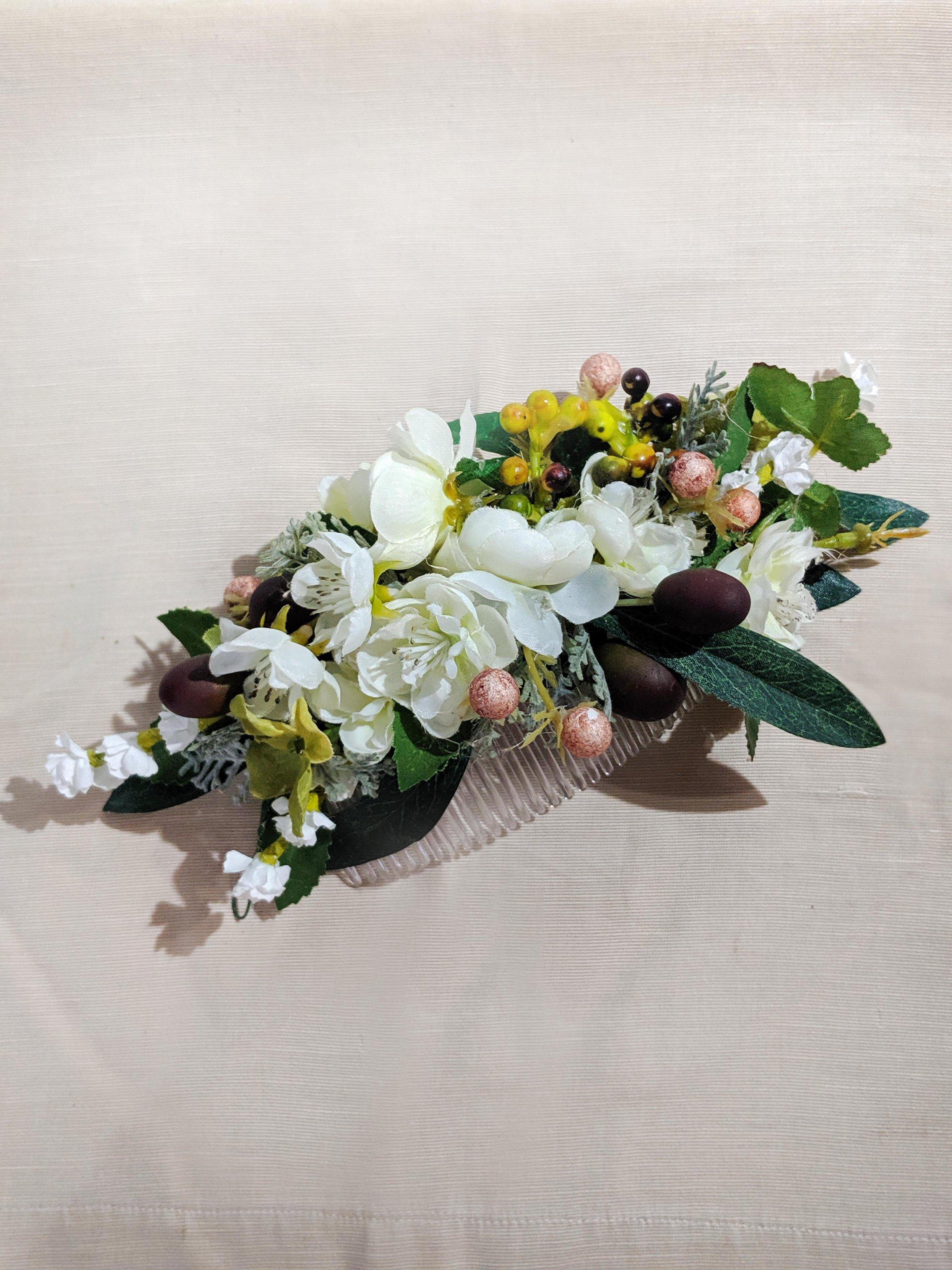 Bridal Floral Comb