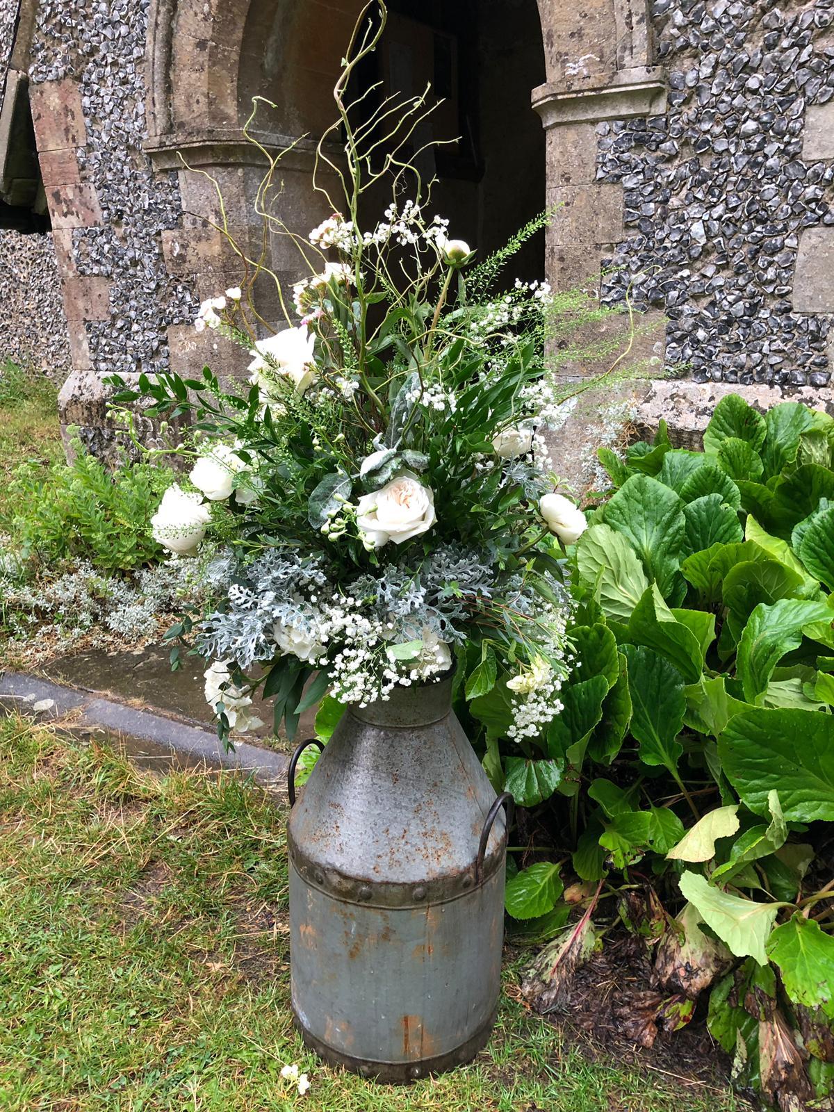 Urn outside Bicknor Church