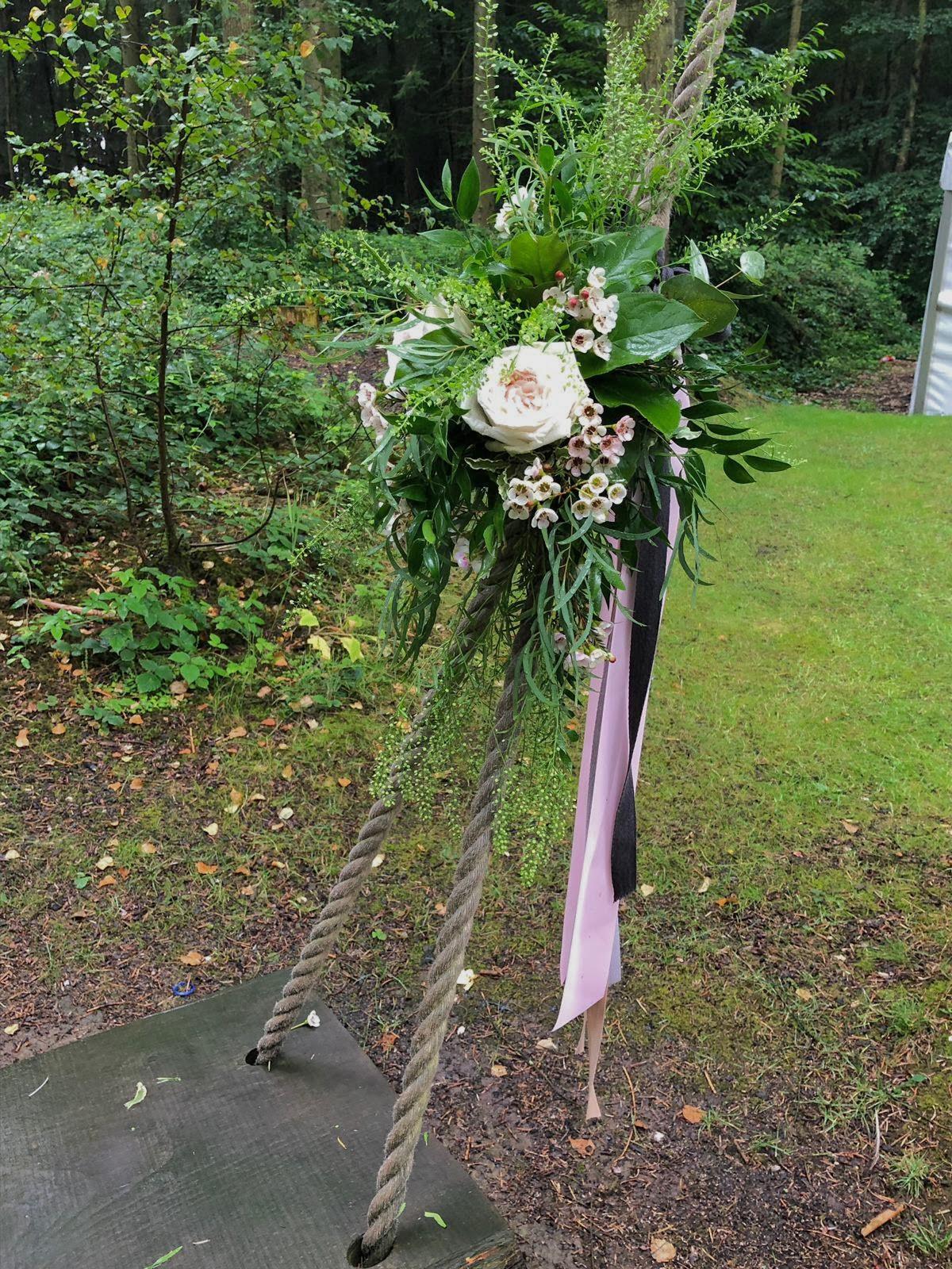 Swing detail at Longton Wood