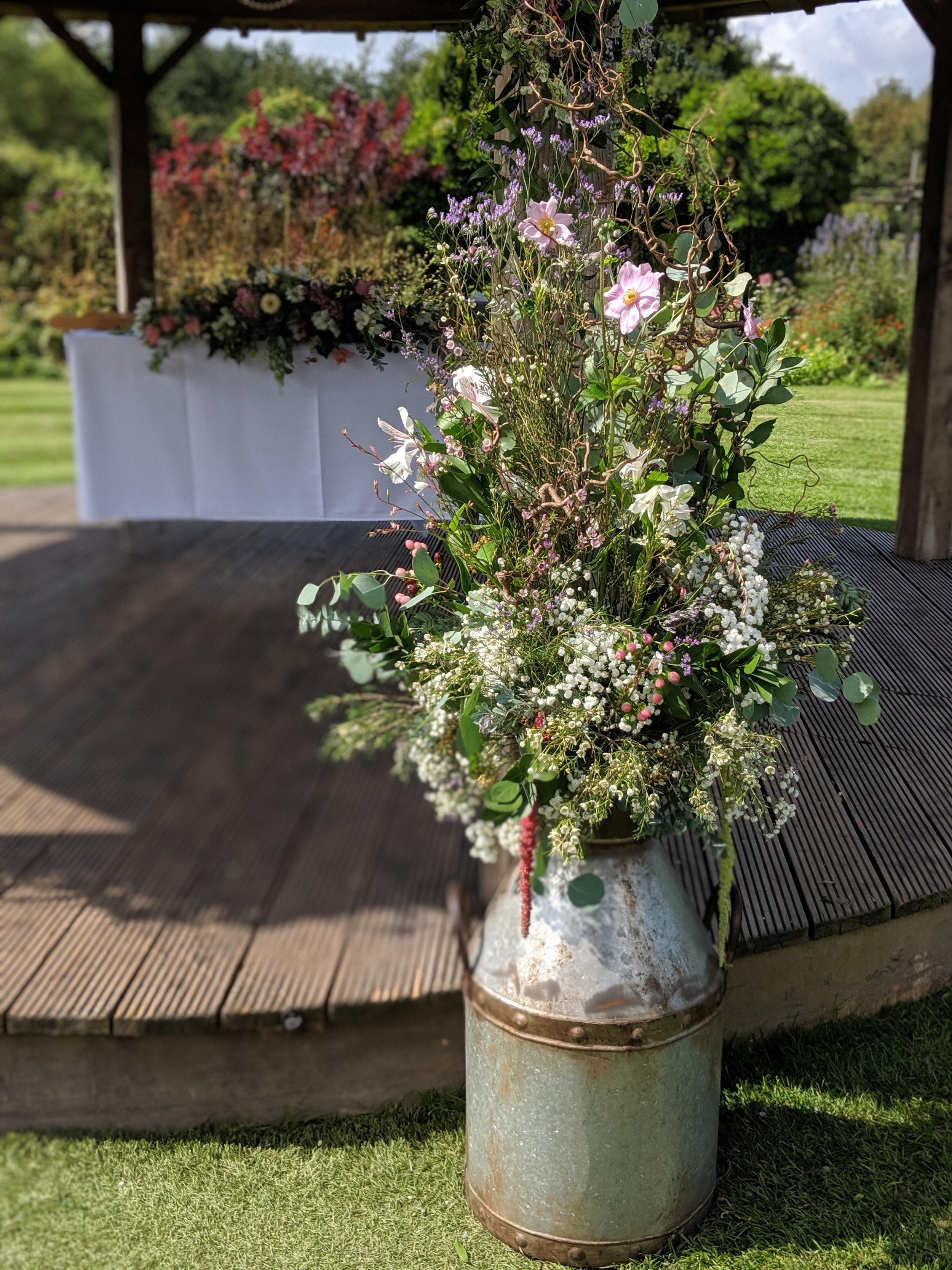 Urn Flowers Arrangement