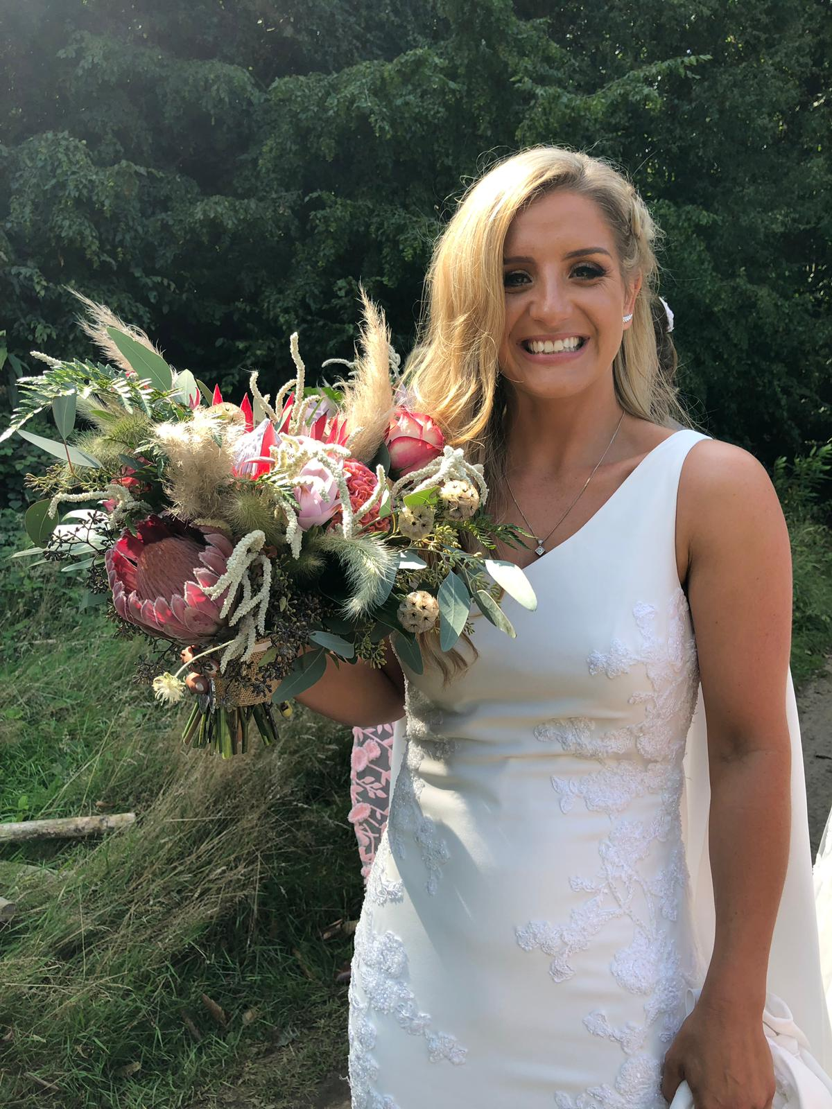 Sophie with her Bouquet