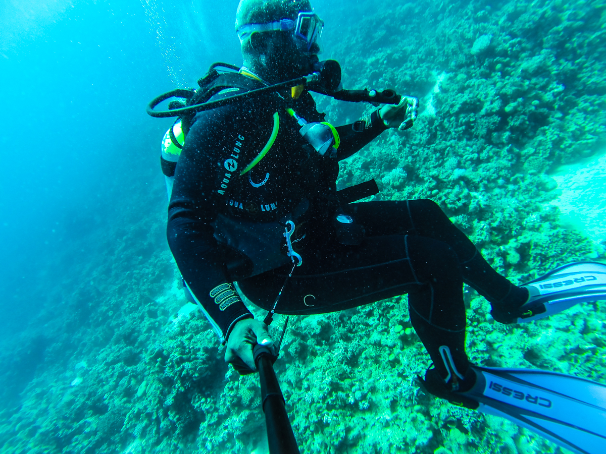Scuba diving in Dahab Egypt