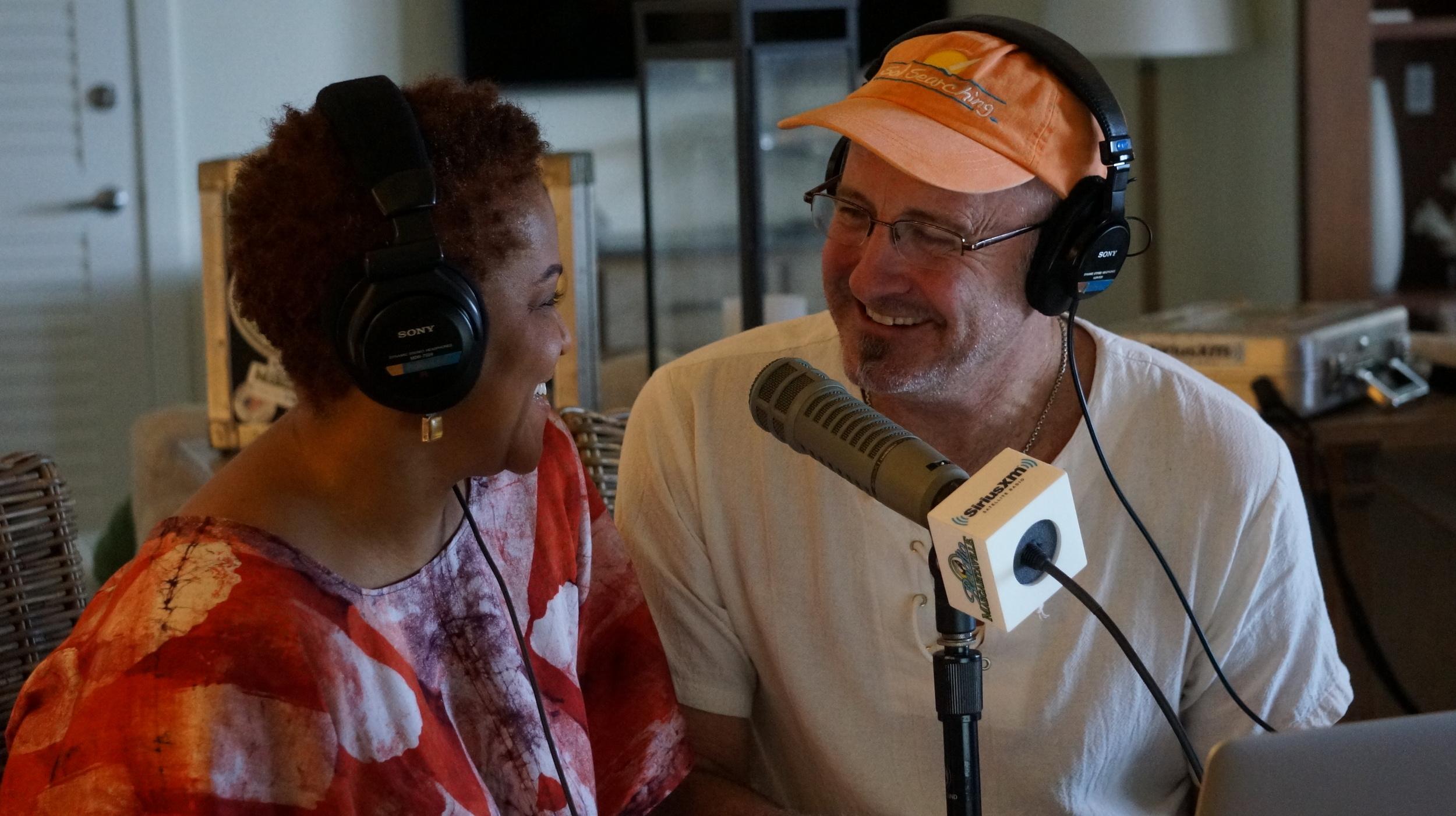 Coral Reefer Nadirah Shakoor with JD Spradlin on Radio Margaritaville at the Margaritaville Hollywood Beach Resort
